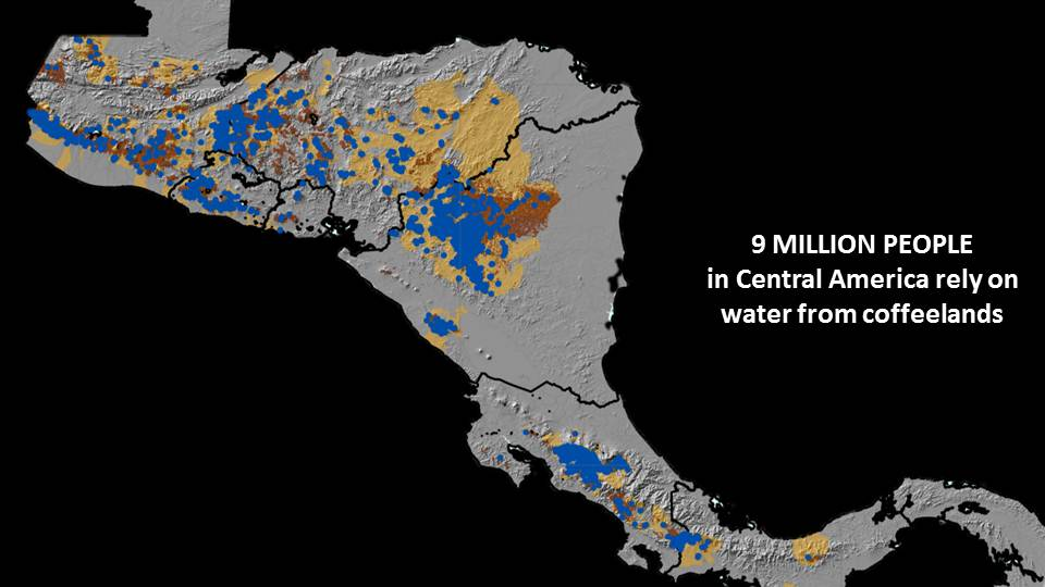 9 million people in Central America depend on water from the coffeelands