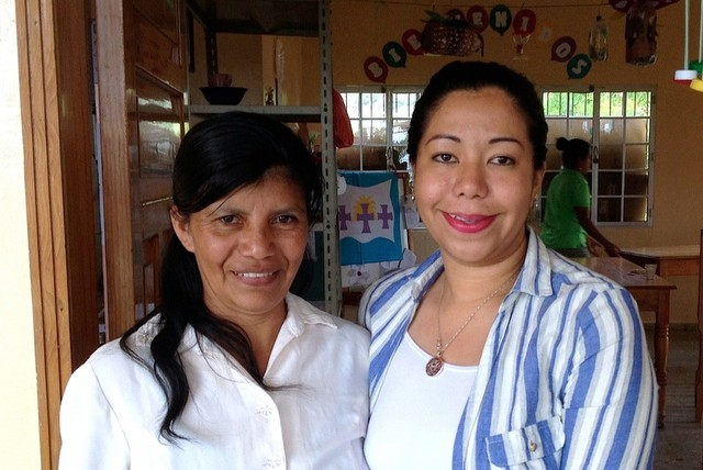 Dunia Martínez, left, Mayor of Opatoro. Photo by Hugh Aprile.