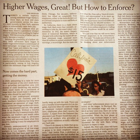 Higher Wages Great!  For Coffeelands