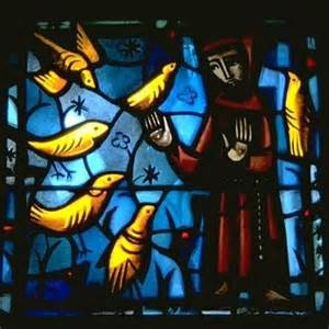 Stained glass of St Francis of Assisi (Taize)