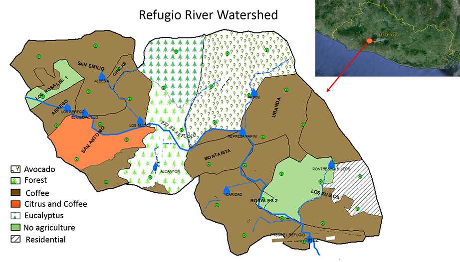 Watershed map.
