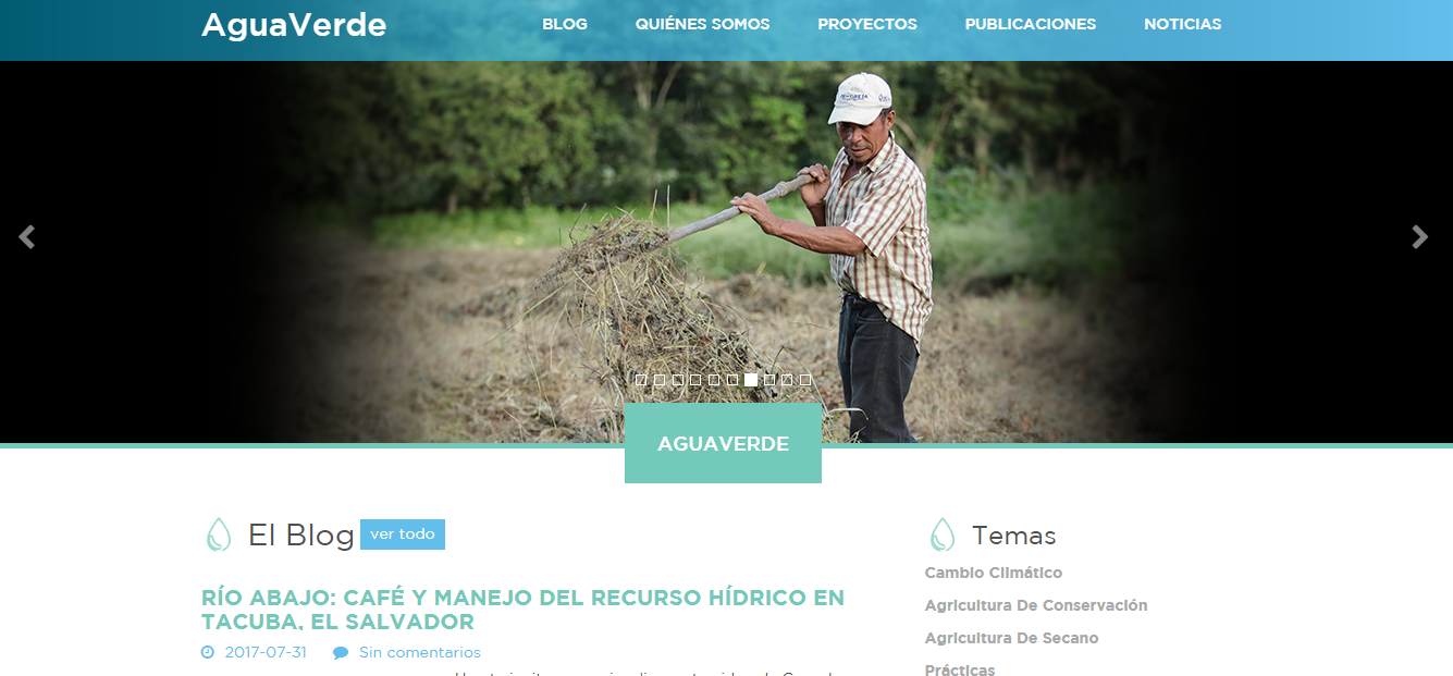 Celebrating the public launch of the Spanish language Water Smart Agriculture blog by CRS – Agua Verde