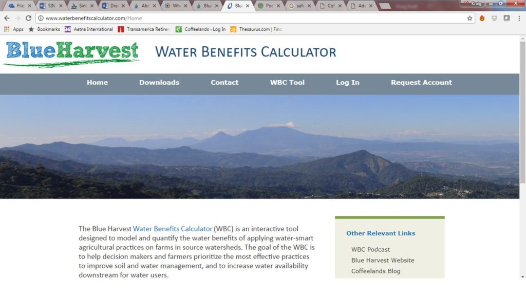 Measuring ROI of farm management activities on water resources in the Coffeelands